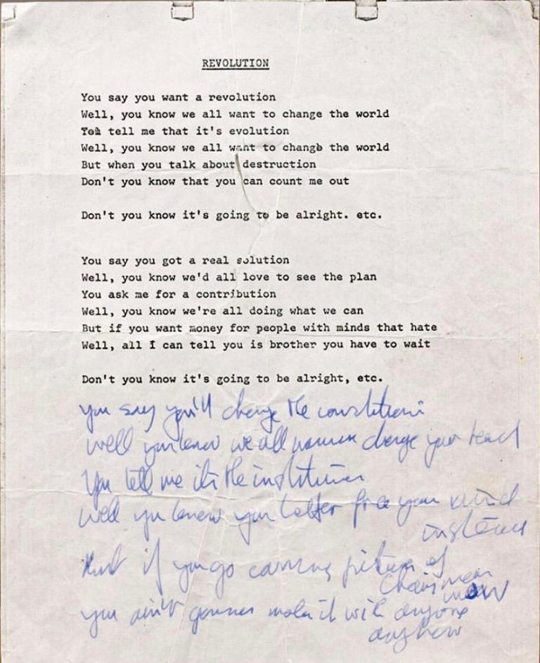 RevolutionLyrics