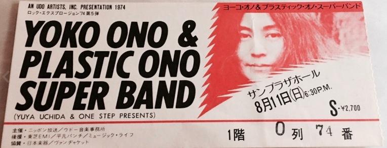 PlasticOnoSuperbandTicketJapan