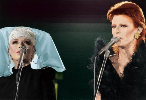 """David Bowie, who in July announced his retirement from 'live' performances, was in action again this weekend at the Marquee Club, London. Only this time it was for the benefit of American N.B.C T.V. The audience consisted solely of fan club members who were admitted free by special invitiation. At one time during the proceedings, Davis stopped and said: """"There's one thing l would like to say especially. lt's great to be back."""" The whole place was a near riot. His guests on the programme called the 'Midnight Special,' included Marianne Faithful and the Troggs. Miss Faithful and Bowie did a duet at one stage-the old Sonny and Cher hit 'l got you Babe'. The videotaping was for a pop programme in the U.S. It will not be seen in this country. Bowie wore some remarkable costumes. They were made by his personal clothesmaker, Freddie, whom"""