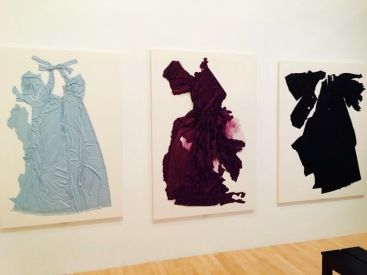 "CharlotteCutPieceDresses-Charlotte Moorman's ""Cut Piece"" performances installed in 'A Feast of Astonishments'"
