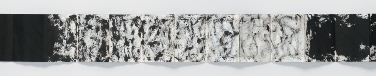 Yoko-Part Painting / Painting until it becomes marble, 1961 Tinte auf Papier, Gefaltet 6,25 x 5 cm, entfaltet ca. 6,25 x 120 cm-2