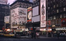 1965 NYC RKO PALACE 46th and 7th Ave Signs Magnificent men F